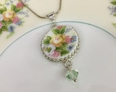 Reserve for Cyndi Broken China Jewelry Necklace, Custom Made From Your China, Bridal Party Gifts, Memorial Necklace, Wedding Jewelry
