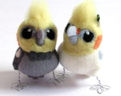 Custom Cockatiel Wedding Cake Topper