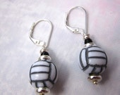 Volleyball earrings, volley ball team, I will be happy to serve them up for you, handmade, novelty fun