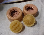 Destash ...Silicone..Sale ..Little Pies   ..  silicone mold..... candle mold ... embeds .. Candle Tarts ..
