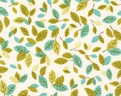 Nature fabric, Animal fabric, Leaf fabric, Forest Fellows fabric by Sea Urchin Studio - Forest Fellows Leaves in Nature, You Choose the Cut