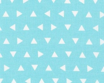 Remix Fabric by Ann Kelle and Fabric Shoppe- Remix Triangles in Aqua. You Choose the Cut. Free Shipping Available