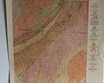 1900s South Carolina-North Carolina Kings Mountain Quadrangle Areal Geology map
