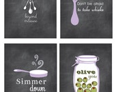 Kitchen Wall Art, Inspirational Quotes, Funny Kitchen Signs, Chalkboard Inspired Prints
