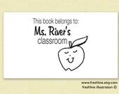 personalized teacher gift, gift for teacher, great job stamp, book stamp, teacher stamp, custom teacher stamp