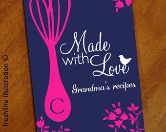 gifts for grandma, grandma gift, new grandma gift, recipe book personalized, blank recipe book