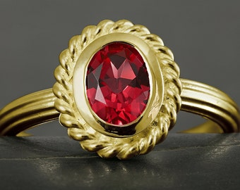 Natural Ruby engagement ring in solid gold, 10kt 14kt, 18kt, white gold, yellow gold, rose gold, victorian, antique style