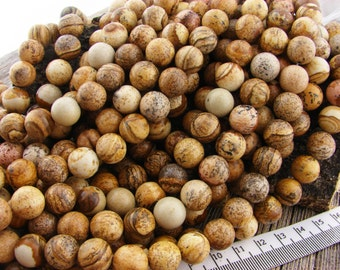 10mm Picture Jasper Beads, Jasper Beads, Round Beads, Earthy Rustic Brown,Natural gemstone, Landscape Beads 10 mm