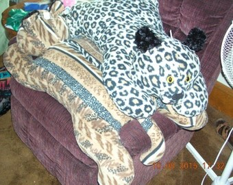 Cheetah Cat Critter Floor Pillow