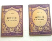 Eugénie Grandet by Balzac, French Text, 2 vol Paperback Classique Larousse,  Vintage Book, 1941.