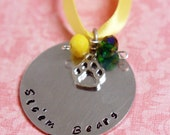 Hand Stamped Baylor Bears Christmas Ornament