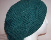 Wool Ski Hat - Knitted Beanie - Hand Knit Hat - Hipster Toque - Skateboard Beanie - Teal