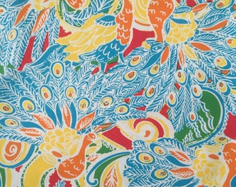 "multi shake your tail feather beach twill cotton fabric square 18""x18"" ~ lilly pulitzer"
