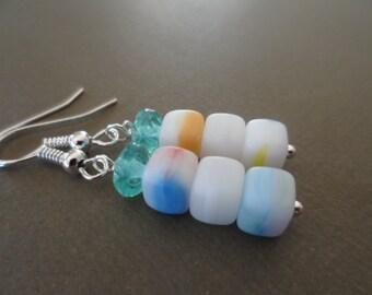 Lovely Cubes Long Dangle Earrings