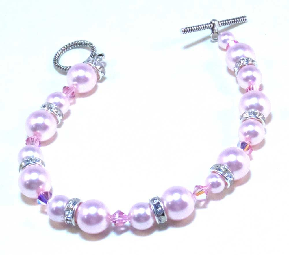 Bracelet Breast Cancer Survivor Pink Jewelry Pink