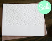Floral Patterned Letterpress Note Card