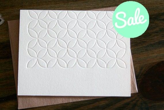 Floral Patterned Letterpress Note Card