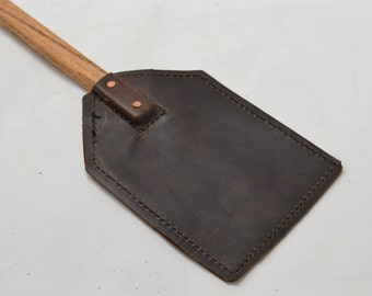 Leather Fly Swatter with Wood Handle