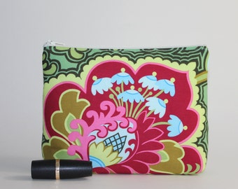 Divided Cosmetic Bag - 2 Compartments - Gothic Rose Pink