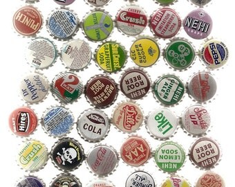 90 Unused Old SODA ,CORKS, BOTTLECAPS Collection