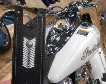 Indian Motorcycle Leather Tank Panel/ Strap 2016 Chief Classic