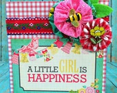 A Little Girl is Happiness  -- Sweet Table or Wall Art