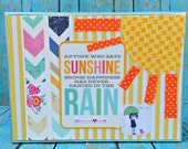Sunshine Brings Happiness  -- Sweet Table or Wall Art