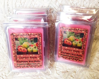 Wax Melts, Country Apple, wax tart melts, breakaway melts, clamshell tarts, teacher gift, Moeggenborg Sugar Bush, apple Melts, candle melts