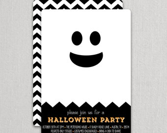 Modern Ghost Invitations | Swanky Press - Halloween party