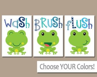 Attractive FROG Bathroom, Frog Wall Art, Canvas Or Prints, BROTHER Bathroom Decor, Wash