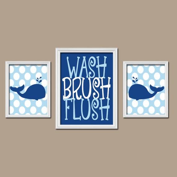 WHALE BATHROOM Whale Wall Art Canvas Or Prints Child Bathroom Boy