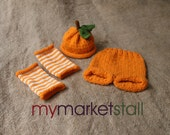 Valencia Orange Legwarmers  - Ready to Ship