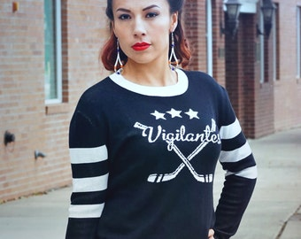 Vintage Inspired Hockey Sweater Vigilantes for Men and Women