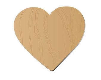 Wood Hearts - Unfinished - your choice style - 12 pieces