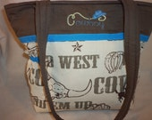 Cowboy purse to diaper bag western theme small medium or large 2 styles Great for Dad' baby shower gift add a name + design