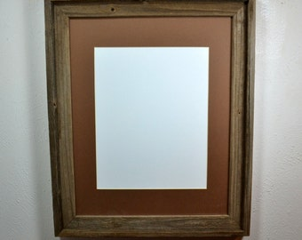 16x20 poster frame from reclaimed wood with mat 11x14 or 12x16