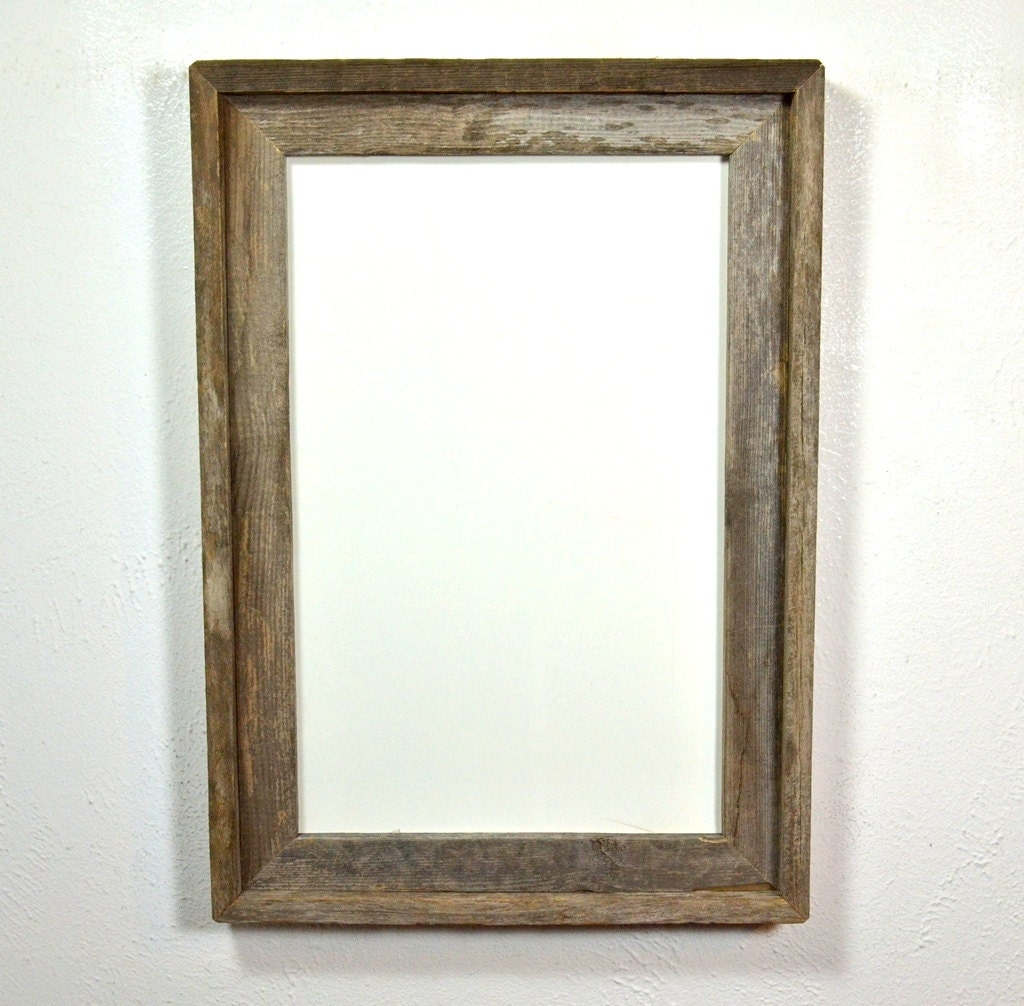 11x17 Wood Poster Frame With A Beautiful Grey Patina