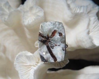 Iridescent Rough Astrophyllite Ring Size 8.5