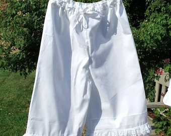 Toddler Bloomers Pantaloons with Lace Trim Custom made
