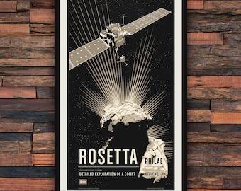 Rosetta & Philae - Robotic Spacecraft Screenprint Series