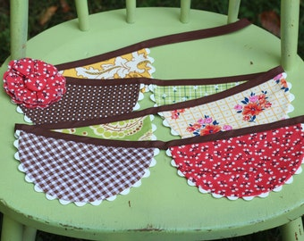 Fabric Scallop Bunting, Fall Fabric Garland, Give Thanks Bunting, Autumn Garland, READY TO SHIP