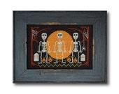Halloween Skeletons Cross Stitch Pattern Instant Download