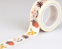 Acorns & Leaves Washi Tape • The Story Of Fall Decorative Tape • Fall Washi Tape • Autumn Washi Tape • Leaves Tape (TSF93027)