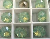 12 Chrysolite Opal Foiled Swarovski Crystal Chaton Stone 1088 39ss 8mm