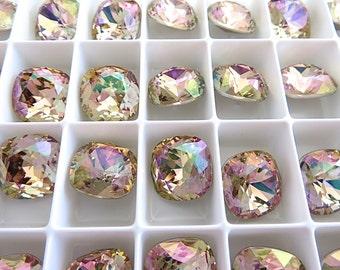 1 Purple Haze Swarovski Crystal Square Cushion Cut Stone 4470 12mm