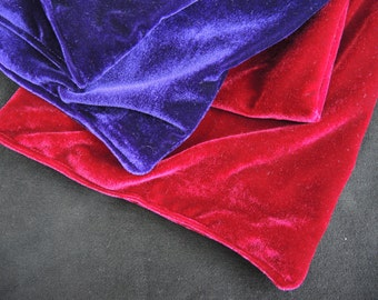 Custom luxury velvet velour scarf- double sided- made to order