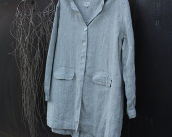 Linen Jacket Size Small Ready to Ship