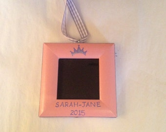 Princess picture frame ornament