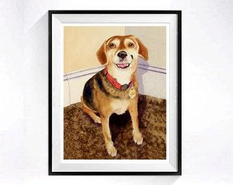 Custom Portrait Portrait only Animal portrait Original watercolor painting pets Cat portrait Dog portrait custom painting of your pet