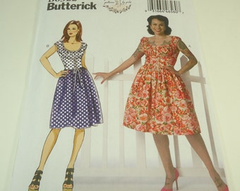 Butterick Misses Dress Pattern B6322 Size 6 8 10 12 14